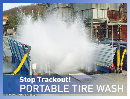 Portable Tire Wash Postcard